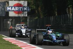 Jenson Button, Honda Racing F1 Team, RA107 and Nico Rosberg, WilliamsF1 Team, FW29