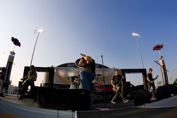 Daughtry performs before the running of the NNCS Rock and Roll 400