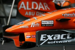 Spyker F1 Team front wing detail