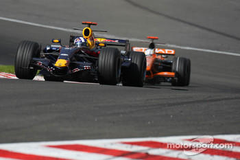 David Coulthard, Red Bull Racing, RB3 and Adrian Sutil, Spyker F1 Team, F8-VII-B