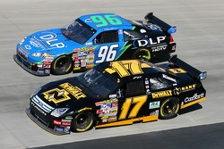 Matt Kenseth works his way through lapped traffic
