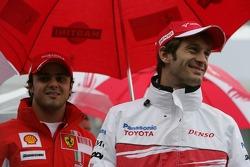 Jarno Trulli, Toyota Racing and Felipe Massa, Scuderia Ferrari