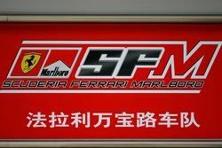 Scuderia Ferrari, pitlane sign
