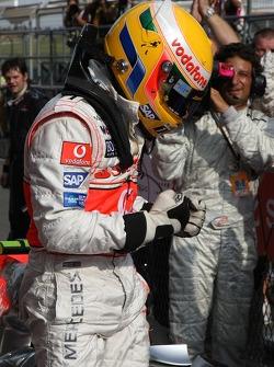 1st place Lewis Hamilton, McLaren Mercedes
