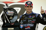 Victory lane: race winner Jeff Gordon celebrates