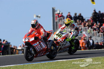 Loris Capirossi and Valentino Rossi