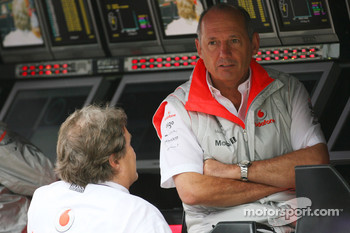 Ron Dennis, McLaren, Team Principal, Chairman and Norbert Haug, Mercedes, Motorsport chief