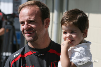 Rubens Barrichello, Honda Racing F1 Team with his son