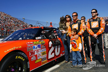 Tony Stewart during National Anthem