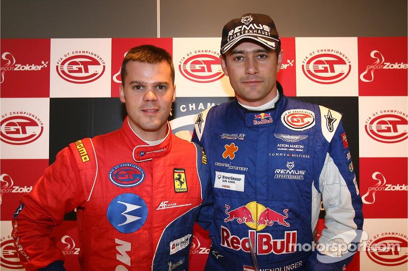 GT2 pole winner Dirk Muller and GT1 pole winner Karl Wendlinger