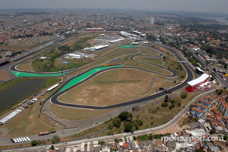 Aerial view of Interlagos