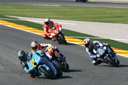 John Hopkins leads Nicky Hayden and Marco Melandri