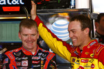 Jeff Burton and Kevin Harvick share a laugh