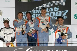LMP2 podium: class winners Juan Barazi, Michael Vergers and Karim Ojjeh