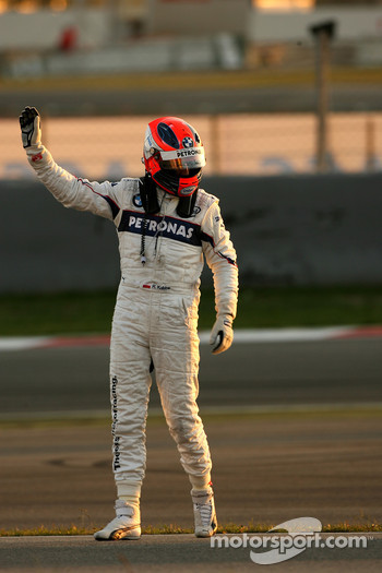 Robert Kubica,  BMW Sauber F1 Team, stops on the circuit