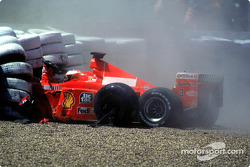 Michael Schumacher crashes