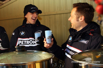 Robert Kubica,  BMW Sauber F1 Team and Andy Priaulx, BMW Team UK, BMW 320si WTCC