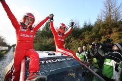 2007 World Rally Champions Sébastien Loeb and Daniel Elena celebrate