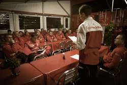 Citroen Total WRT team briefing
