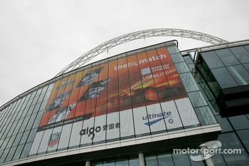 Friday, November 30: outside Wembley Stadium