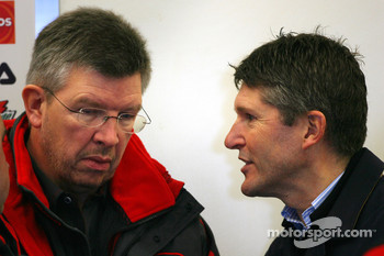 Ross Brawn Team Principle, Honda Racing F1 Team and Nick Fry, Honda Racing F1 Team, Chief Executive Officer