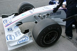 Nick Heidfeld, BMW Sauber F1 Team, slick tyres