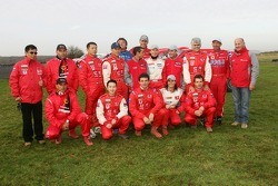 Team Dessoude presentation in Le Galicet: Team Dessoude drivers and co-drivers pose