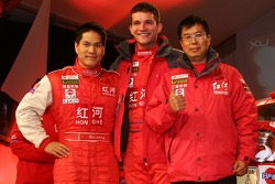 Team Dessoude presentation in Saint Lo: Xu Lang and Fabian Lurquin
