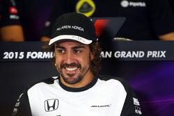 费尔南多•阿隆索(迈凯伦),出席(国际汽联)FIA新闻发布会