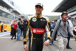 Pastor Maldonado, Lotus F1 Team en la parrilla
