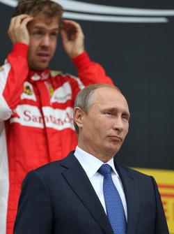 Vladimir Putin, Russian President and Sebastian Vettel, Scuderia Ferrari