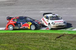 Henning Solberg, Per Eklund VW Beetle and Davy Jeanney, Team Peugeot Hansen