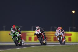Tom Sykes, Kawasaki, Jordi Torres, Aprilia Racing Team and Michael van der Mark, Pata Honda