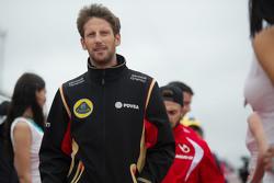 Romain Grosjean, Lotus F1 Team en el desfile de los pilotos