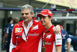 Maurizio Arrivabene, Ferrari Team Principal with Esteban Gutierrez, Ferrari Test and Reserve Driver