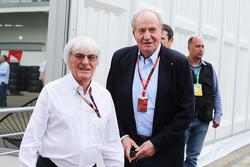Bernie Ecclestone, con el ex Rey de España, Juan Carlos