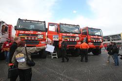 Team de Rooy GINAF X2223 rally trucks wait for scrutineering