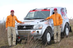 Team Fleetboard Dakar Leipzig presentation: Stephan Schott and Holm Schmidt with their Mitsubishi Pajero