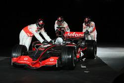 The new McLaren Mercedes MP4-23 is presented