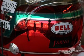 The helmet of Jarno Trulli, Toyota Racing
