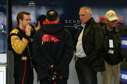 Dietrich Mateschitz, Owner of Red Bull, Sébastien Bourdais, Scuderia Toro Rosso, Franz Tost, Scuderia Toro Rosso, Team Principal
