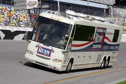 Judy Giuliani takes a lap at Daytona