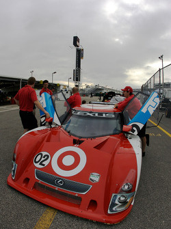 Chip Ganassi with Felix Sabates Lexus Riley at technical inspection