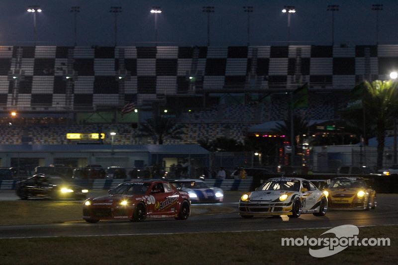 #30 Racers Edge Motorsports Mazda RX-8: Ken Dobson, Drew Staveley, Craig Stone, Robert Thorne, #81 Synergy Racing Porsche GT3 Cup: Robert Doornbos, Patrick Huisman, Steve Johnson, Richard Lietz