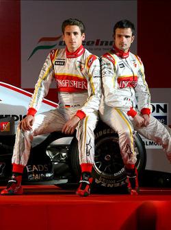 Adrian Sutil and Vitantonio Liuzzi