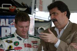 Dale Earnhardt Jr. and NASCAR President Mike Helton