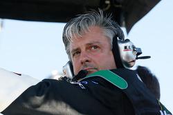 Pierre Kuettel, crew chief on Carl Edwards' #60 Scott's Ford, looks on