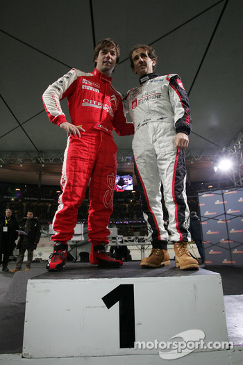 Sbastien Loeb and Alain Prost