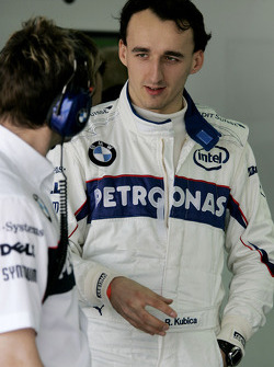 Robert Kubica, BMW Sauber F1 Team, Pitlane, Box, Garage
