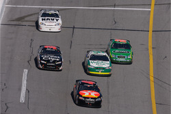 Bryan Clauson leads a group of cars